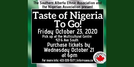Taste of Nigeria tickets