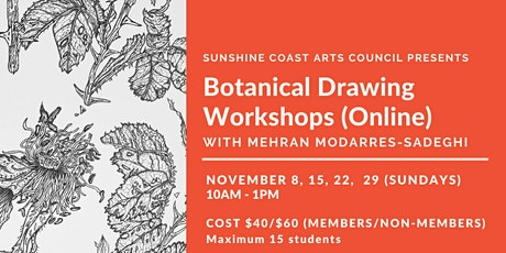 Botanical Drawing Workshops with Mehran Modarres-Sadeghi (Online) tickets