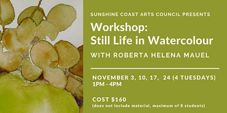 Still Life in Watercolour with Roberta Mauel tickets