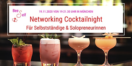 Networking Cocktail Night by BeeSelf für Selbstständige & Solopreneure Tickets