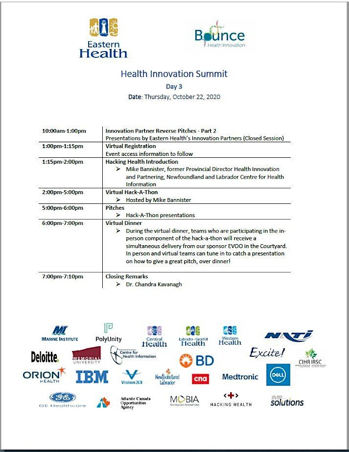 Day 1 - Eastern Health Innovation Summit image