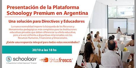 PRESENTACIÓN DE LA PLATAFORMA SCHOOLOGY PREMIUM EN ARGENTINA entradas