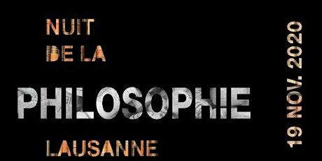 Nuit de la Philosophie 2020 Lausanne billets