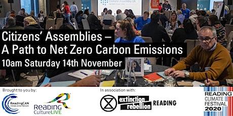 Citizens' Assemblies - a Path to Net Zero Carbon Emissions tickets