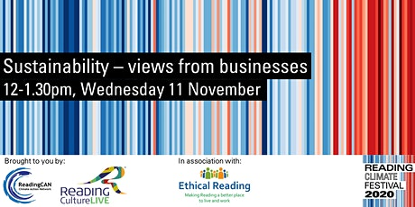 Sustainability - views from businesses (Reading Climate Festival) tickets