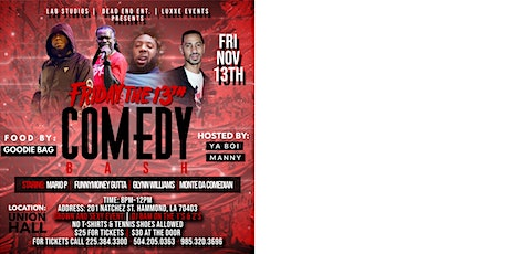 Friday The 13th Comedy Bash tickets