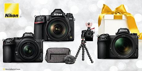 LIVE Holiday Gift Giving Guide at the Nikon Virtual Camera Counter tickets