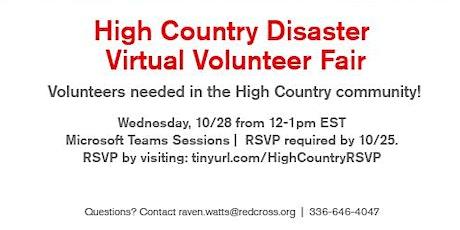 High-Country Disaster Virtual Volunteer Fair- 10/28/20 (Caldwell County) tickets