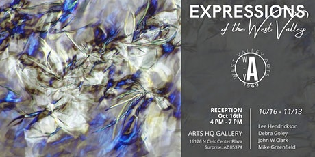 Expressions of the West Valley Exhibit:  October 16 - November 13, 2020 tickets