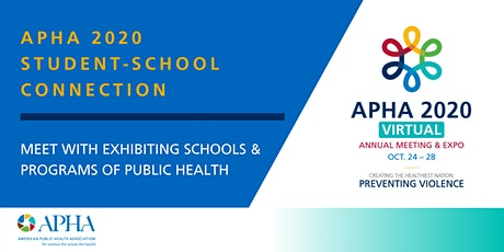 APHA 2020 Student-School Connection tickets