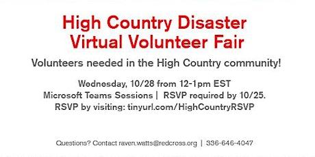 High-Country Disaster Virtual Volunteer Fair- 10/28/20 (Watauga County) tickets