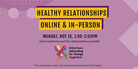 Healthy Relationships Online and In-Person tickets