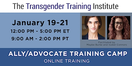 Ally/Advocate Virtual Training Camp - Open to All!  Jan 19-21, 2021 tickets