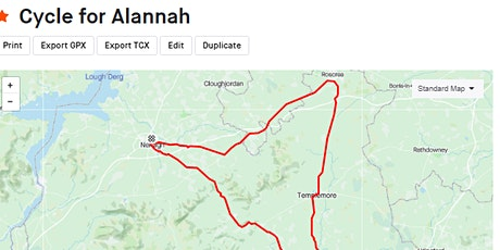 Cycle for Alannah (Templederry Fighting for Alannah)