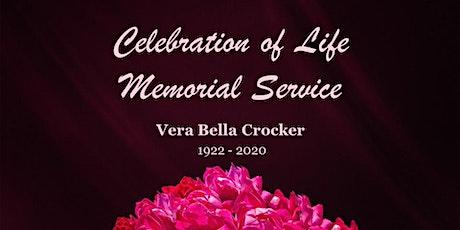 Celebration of Life Memorial Service for Vera Crocker tickets