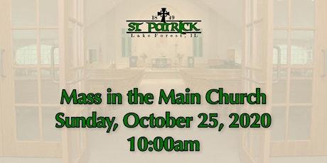 St. Patrick Church Mass, Sunday, October 25 at 10:00am tickets