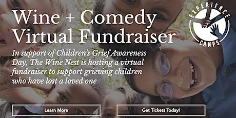 Wine + Comedy Virtual Fundraiser tickets