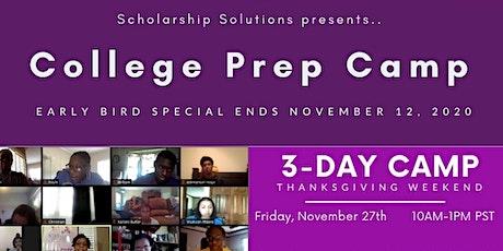 College Prep Camp ~ Thanksgiving Day Weekend Fun tickets