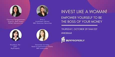 Invest like a woman! Empower yourself to be the boss of your money. tickets