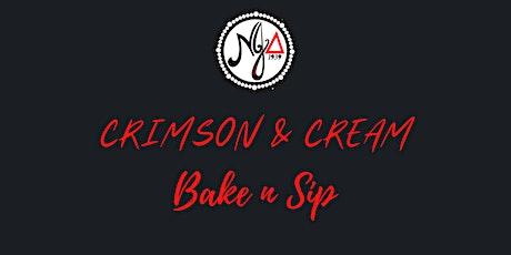 Crimson and Cream Bake n Sip tickets