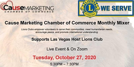 Cause Marketing Chamber Monthly Mixer  Oct 27 tickets