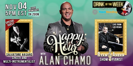 Happy Hour with Alan Chamo  | featuring Musician Salvatore Hasard 11/4/2020 tickets