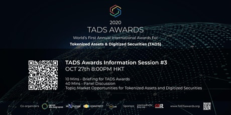 Market Opportunities of Tokenized Assets & Digitized Securities - TADS (3) tickets