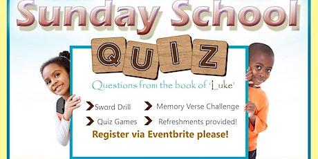 NCC Manchester Sunday School Quiz tickets