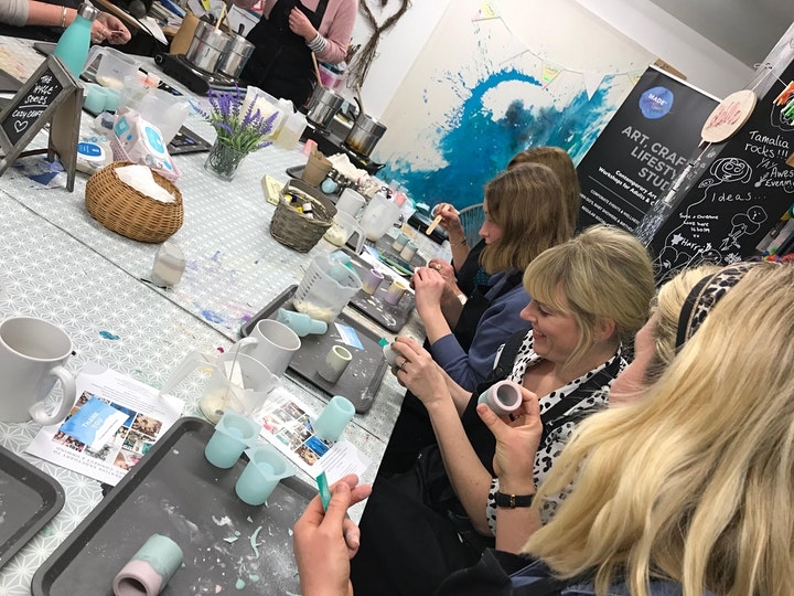 HYGGE SERIES: Eco-Resin Pots & Calming Blend Candle Making 11th Feb image
