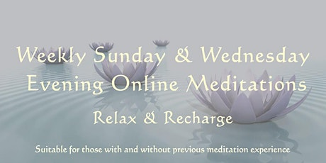 Sun & Wed evening meditation tickets