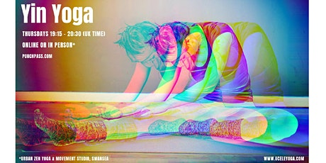 Yin Yoga for tension & stress  | Online via Zoom | 75 min class tickets
