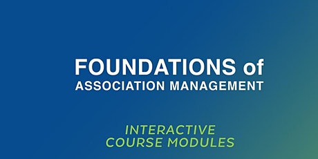 Foundations  of Association Management  Course (November 18 -20, 2020) tickets