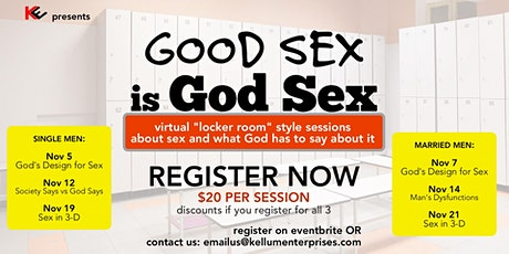 Good Sex is GOD SEX (for Married Men) tickets