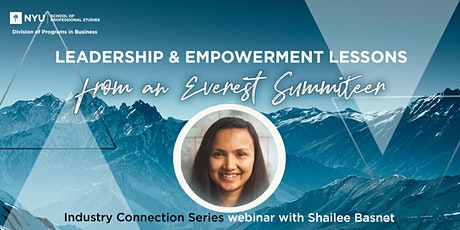 Leadership & Empowerment Lessons from an Everest Summiteer tickets