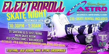 ElectroRoll Adult Skate Night tickets