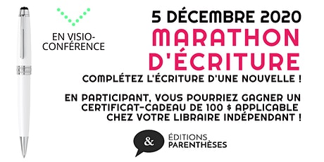 Marathon d'écriture tickets