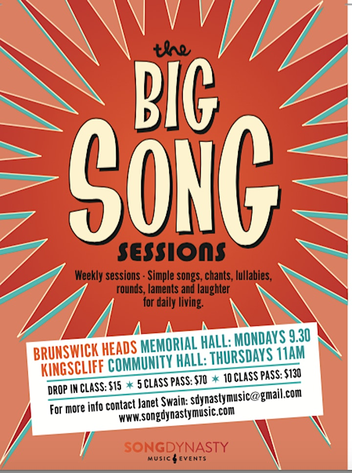 Big Song Membership and Class Fees Term 4 Brunswick Heads image