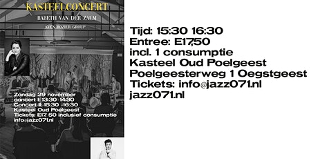 Kasteelconcert II Babeth van der Zalm ft. Sven Rozier group tickets