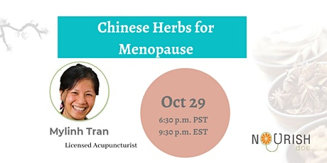 Chinese Herbs for Menopause tickets