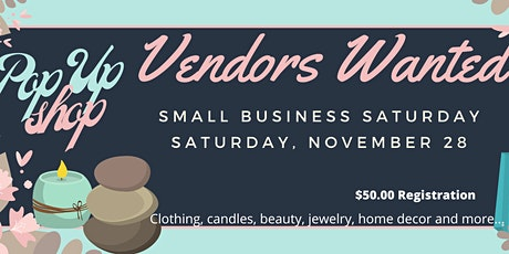 Small Business Saturday Pop Up tickets