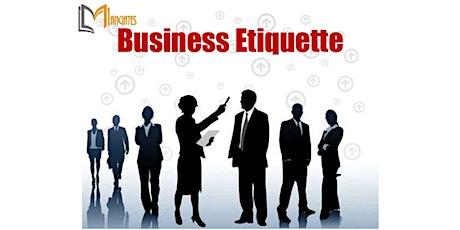 Business Etiquette 1 Day Virtual Live Training in Regina tickets