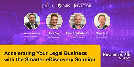 Accelerating Your Legal Business with the Smarter eDiscovery Solution tickets