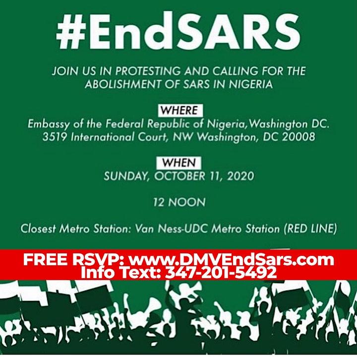 DMV #ENDSARS Nigerian Embassy image