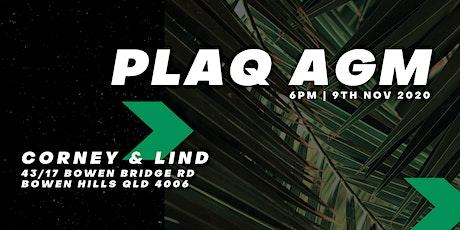 PLAQ AGM tickets