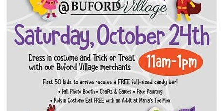 Trick or Treat at Buford Village: Saturday, October 24 from 11 - 1 tickets