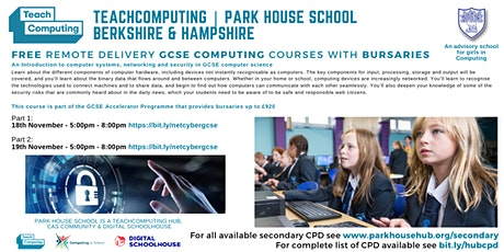 GCSE Computer Science - Systems, networking & security - REMOTE DELIVERY tickets