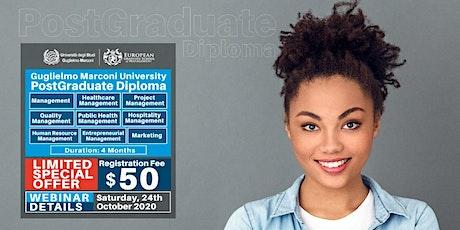 Free European Postgraduate Diploma Webinar and Certificate of Attendance! tickets