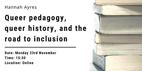 Queer pedagogy, queer history, and the road to inclusion tickets