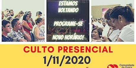 CULTO PRESENCIAL 10H DA MANHÃ ingressos