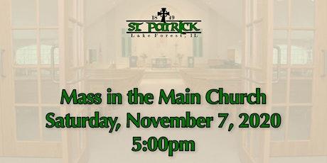 St. Patrick Church Mass, Saturday, November 7 at 5:00pm tickets